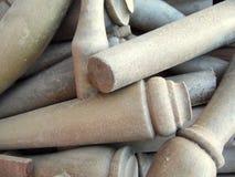 Dusty Wooden Dowels Texture photos libres de droits