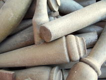 Dusty Wooden Dowels Texture Royalty Free Stock Photos
