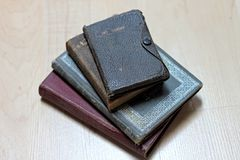 Dusty worn books Stock Image