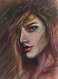 Duszny kobieta portret ilustracja wektor