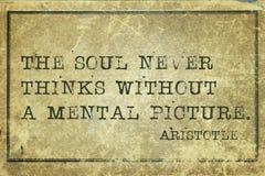 Duszy pic Aristotle Obraz Stock
