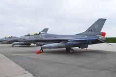 Dutch Air Force F-16. At an airshow Stock Photos