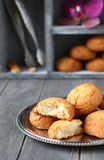 Dutch almond cookies called Stock Photos