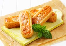 Dutch almond cookies Royalty Free Stock Images