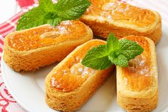 Dutch almond cookies Stock Photos