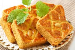 Dutch almond squares Stock Photo