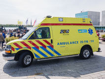Dutch ambulance in action Stock Photos