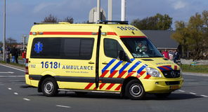 Dutch ambulance stock image