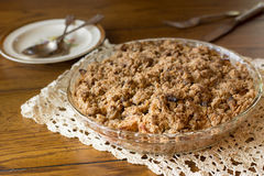 Dutch Apple Crumb Pie Royalty Free Stock Images