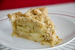 Dutch apple pie slice Stock Photo