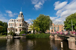 Dutch architecture in Amsterdam Royalty Free Stock Image