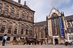 Dutch architecture buildings in Dam Square Stock Image