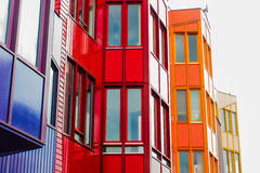 Dutch Architecture 3. Pittoresque buildings in the town of Bussum represent both modern and traditional Dutch architecture stock photography