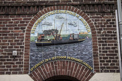 Dutch architecture sculpture on the wall Royalty Free Stock Images