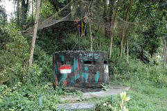 Dutch army military defense bunker Stock Images