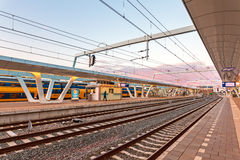 The Dutch Arnhem railway station Royalty Free Stock Images