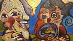 Dutch Art Lucebert. Colorfull Cobra Art Royalty Free Stock Photo