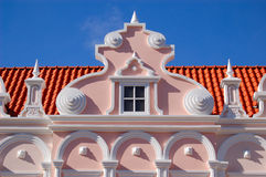 Dutch Aruba architecture Stock Images