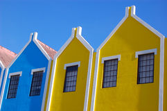 Dutch Aruba architecture Royalty Free Stock Images