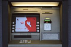 Dutch ATM machine Royalty Free Stock Images