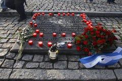Dutch Auschwitz monument. In former concentration camp Auschwitz-Birkenau in Poland Stock Photography