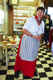 Dutch baker in authentic costume. Picture of a Dutch baker in authentic costume Stock Photo