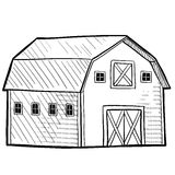 Dutch barn sketch Stock Photos