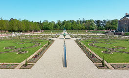Dutch baroque garden of The Loo Palace in Apeldoorn Stock Image