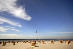 Dutch beach in Germany stock image