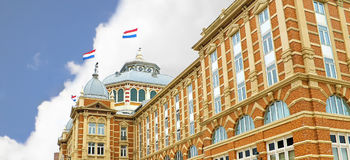 Dutch beach resort with famous Kurhaus hotel . Royalty Free Stock Images