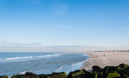 Dutch beach and sea in winter royalty free stock photo