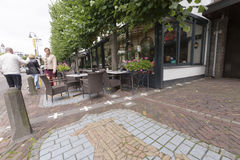 The Dutch Belgian border in Baarle Nassau. The border of Netherlands and Belgium in the city of Baarle Nassau. A result of treaties and wars, the Belgian enclave Royalty Free Stock Images