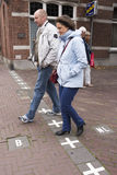 The Dutch Belgian border in Baarle Nassau. The border of Netherlands and Belgium in the city of Baarle Nassau. A result of treaties and wars, the Belgian enclave Royalty Free Stock Photos