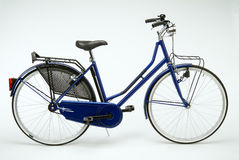 Dutch bicycle. Typical Dutch bike for woman on white background Stock Photography