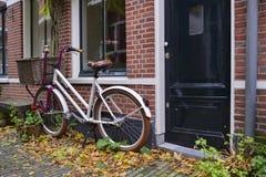 Dutch bike with basket Royalty Free Stock Photo