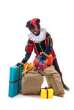 Dutch black pete with many presents Stock Photography