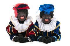 Dutch black petes laying at the floor Royalty Free Stock Images