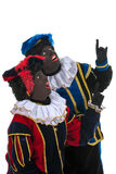 Dutch black petes pointing Stock Images