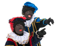 Dutch black petes pointing Royalty Free Stock Image