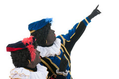 Dutch black petes pointing up Royalty Free Stock Photo