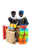 Dutch black petes with presents Stock Photo