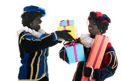 Dutch black petes with presents Royalty Free Stock Images