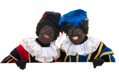 Dutch black petes with white board Royalty Free Stock Photo