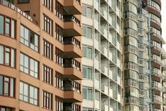 Dutch block of apartments Stock Photo