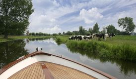 Dutch boat trip on river Royalty Free Stock Photo
