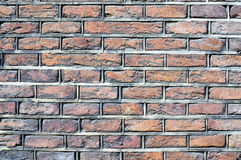 Dutch brick wall. Ancient Dutch brick wall background, texture Stock Photo