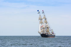 Dutch brig Mercedes sailing Royalty Free Stock Images