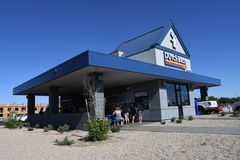 Dutch Bros. Coffee chain specializing in all different kinds of coffee. Location of the photo was taken in Gilbert Arizona Stock Images