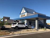Dutch Bros. Coffee chain specializing in all different kinds of coffee. Location of the photo was taken in Gilbert Arizona Stock Photos