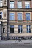 Dutch Building and Bikes Stock Image
